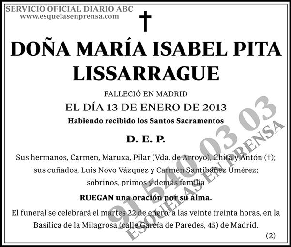 María Isabel Pita Lissarrague